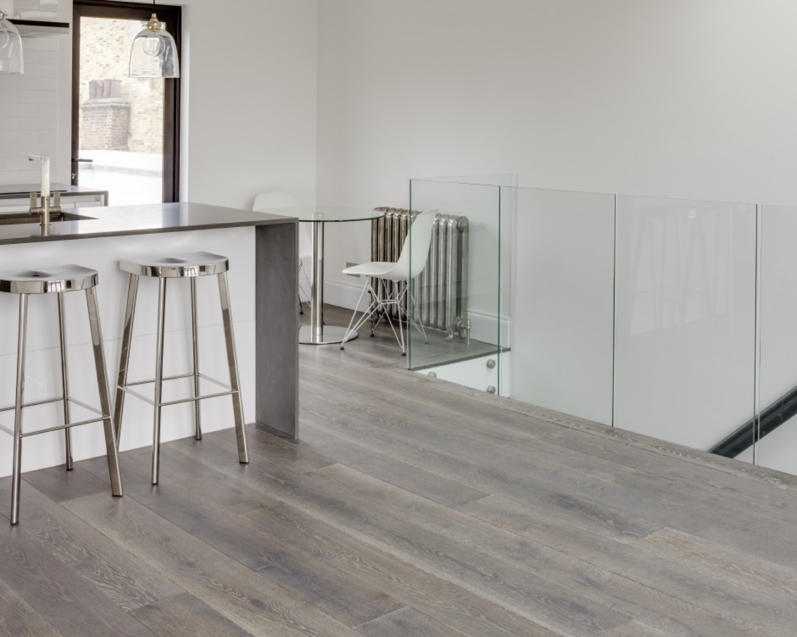 Braided river driftwood oak floor engineered the new for Oak flooring company