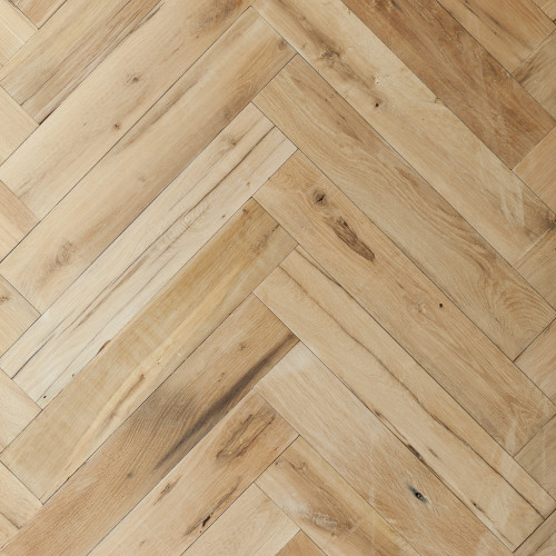 Genuine Reclaimed Re-sawn French Beam Oak Herringbone