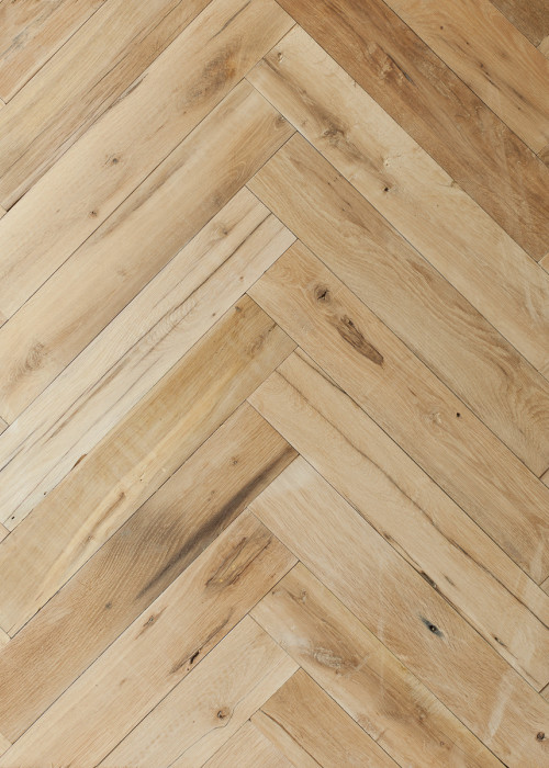 Reclaimed French Oak Herringbone Parquet