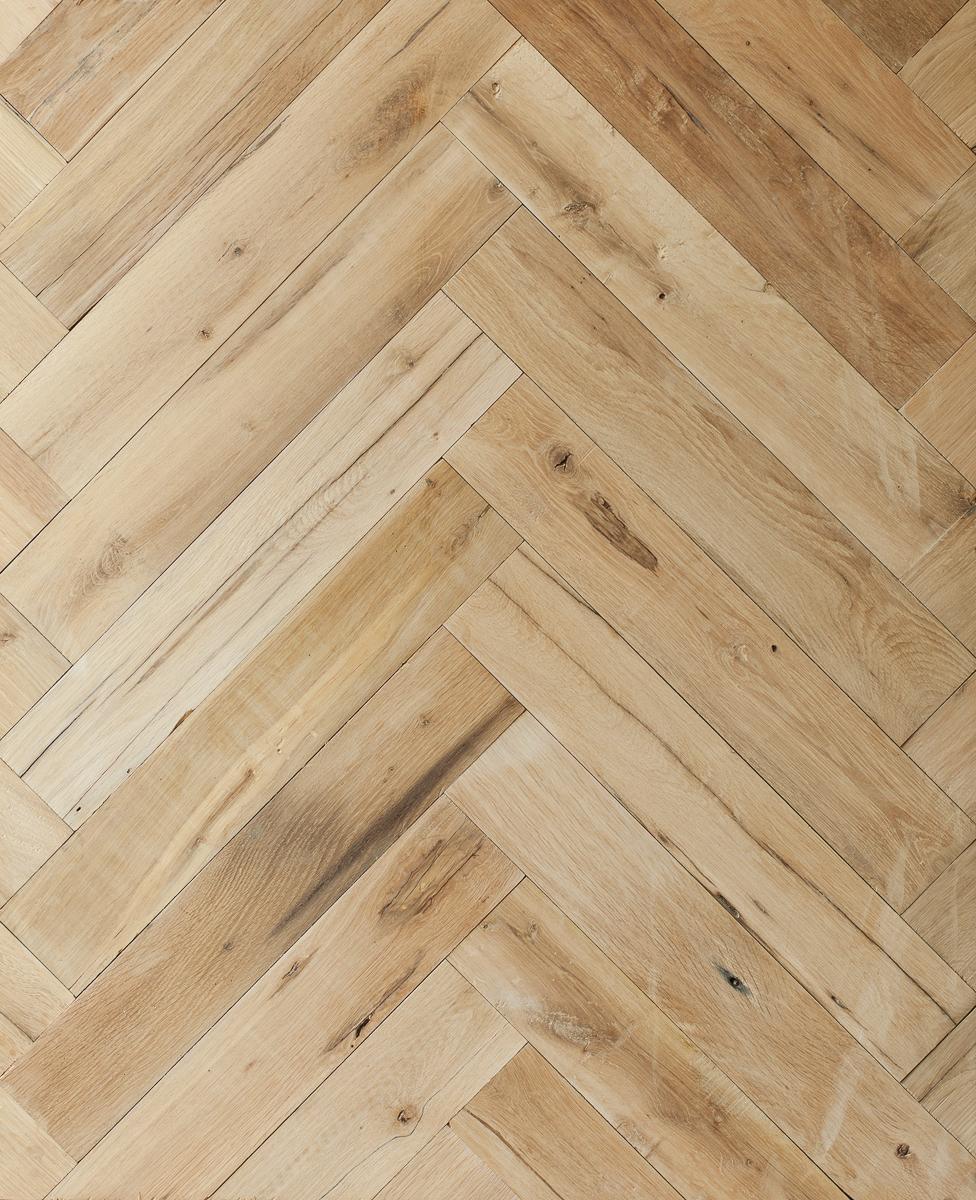 Reclaimed Re-Sawn Beam Oak Herringbone