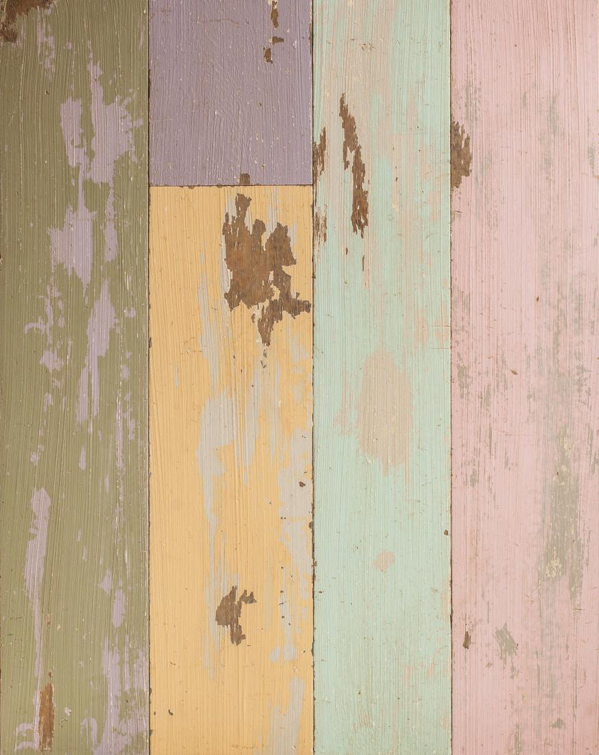 Multi Coloured Painted Oak Floor Cladding