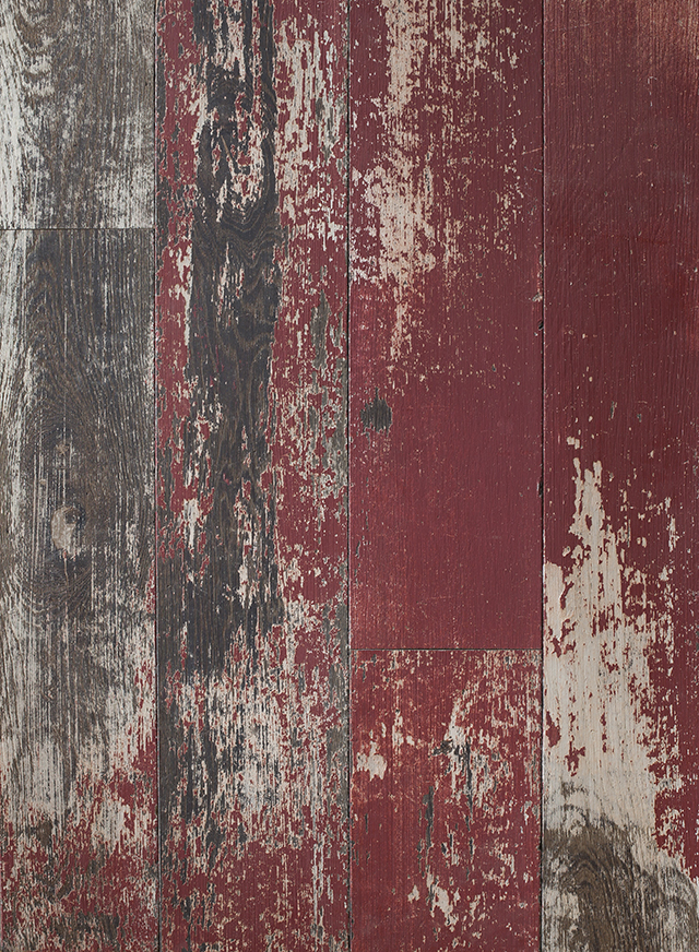 Reclaimed Worn Wood Distressed Painted Wall Cladding