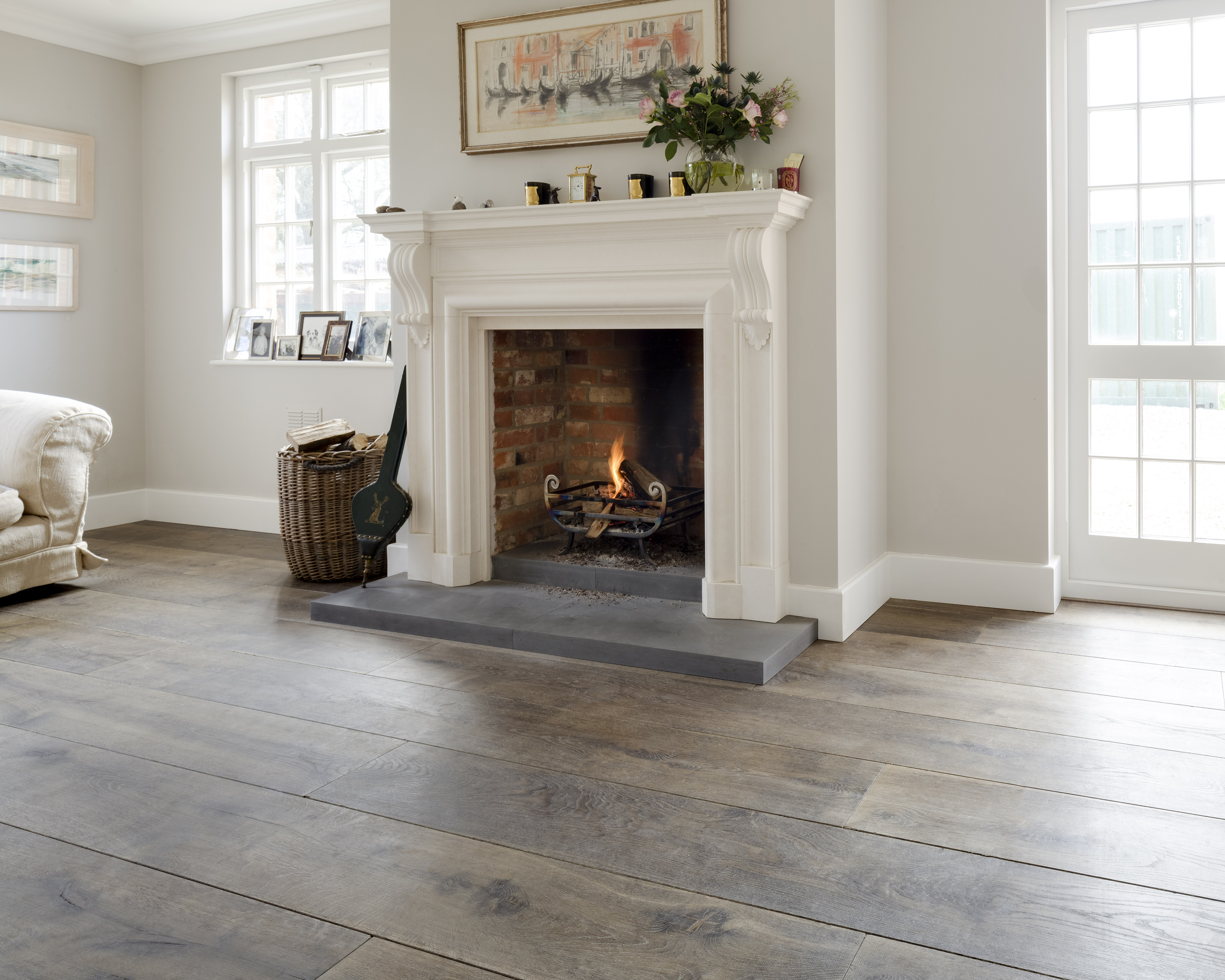 Traditional Wide Grey Oak Flooringreclaimed Flooring Co