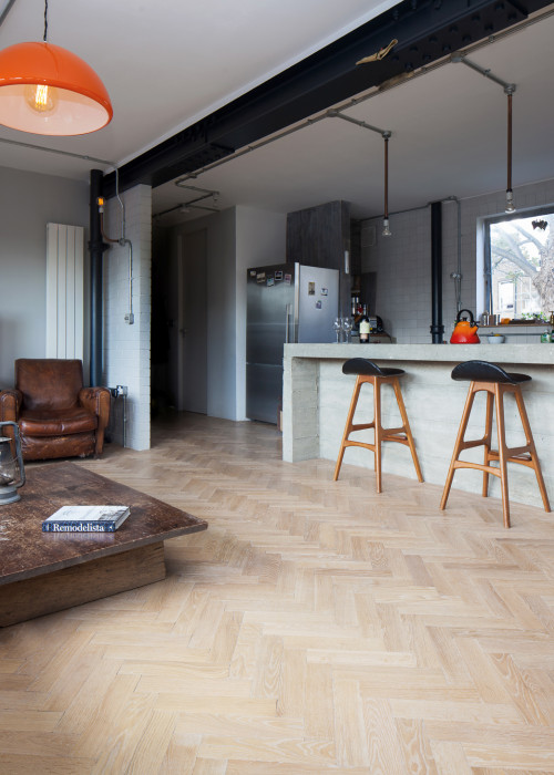 English Oak Herringbone Parquet