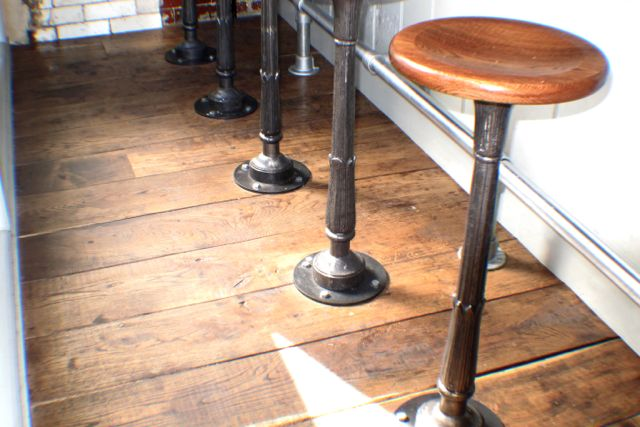 Spuntino interior soho traditional reclaimed wood floors Reclaimed teak flooring