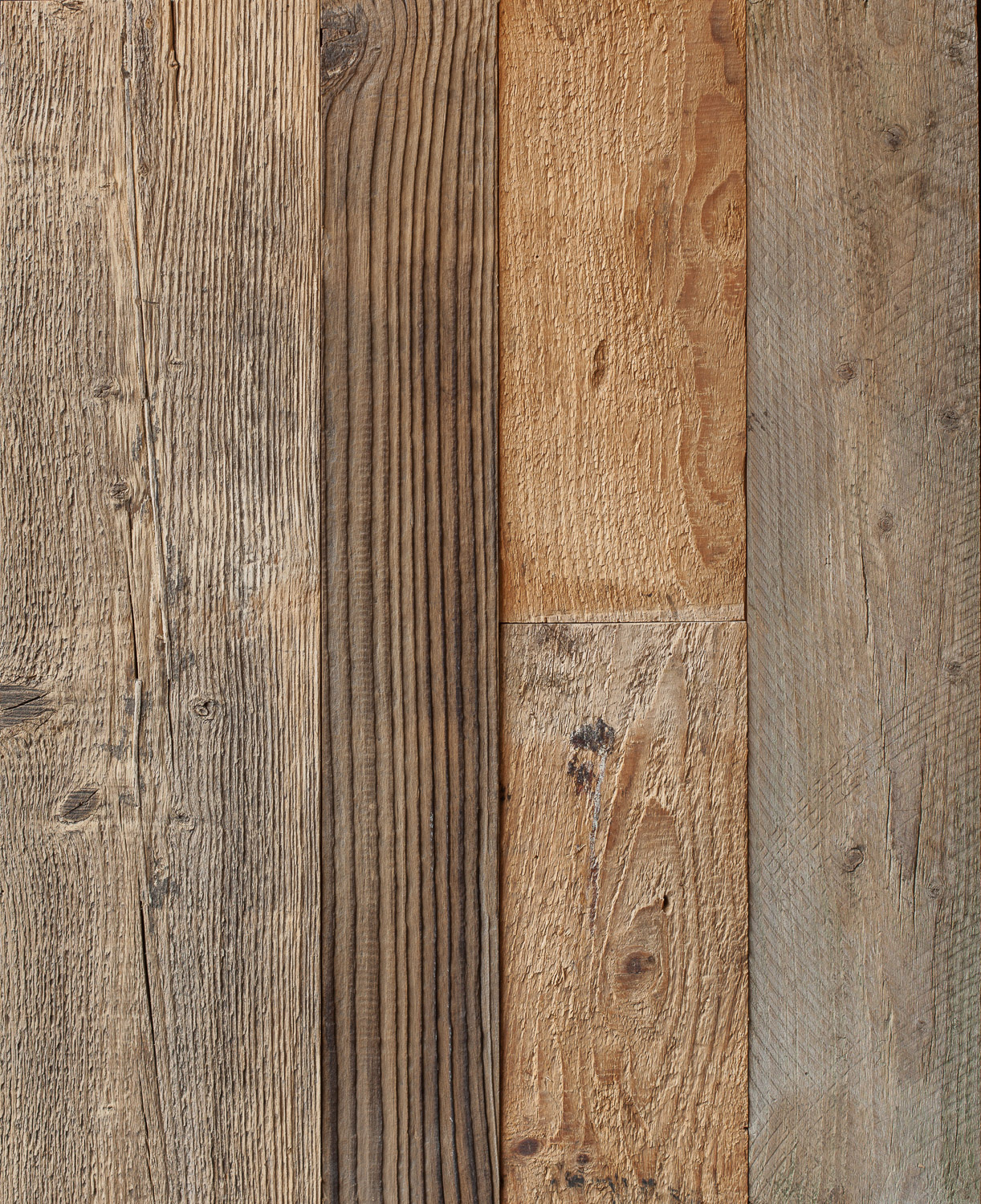 Reclaimed pine wall cladding brown mm the new