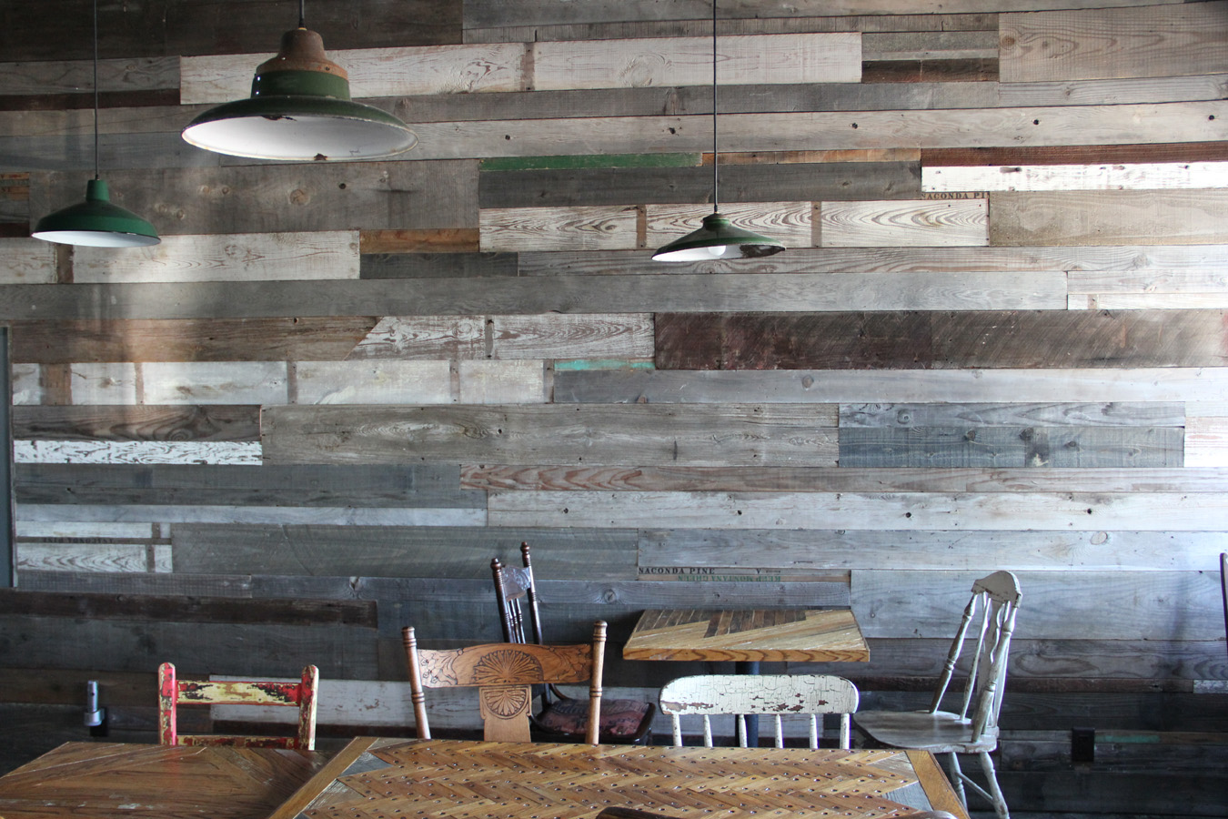 Ariele alasko creating furniture from reclaimed wood - Reclaimed wood for interior walls ...