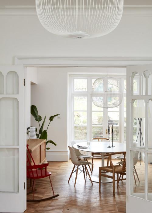 Stylish Kitchen Flooring Ideas With Parquet Flooring