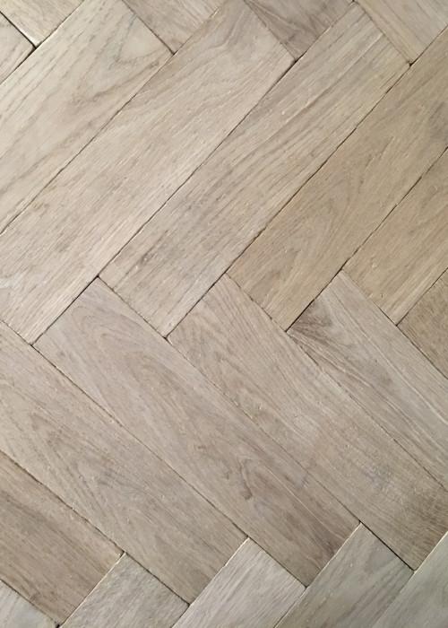Traditional Unfinished Oak European Herringbone