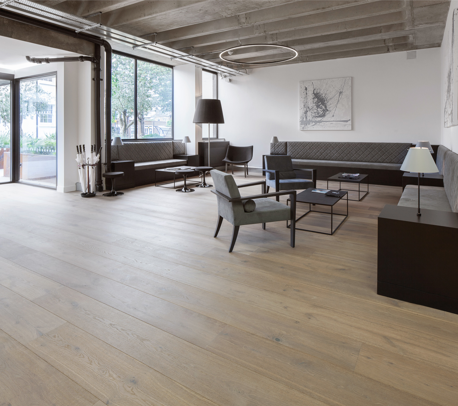 What kind of floor will transform the interior beyond recognition