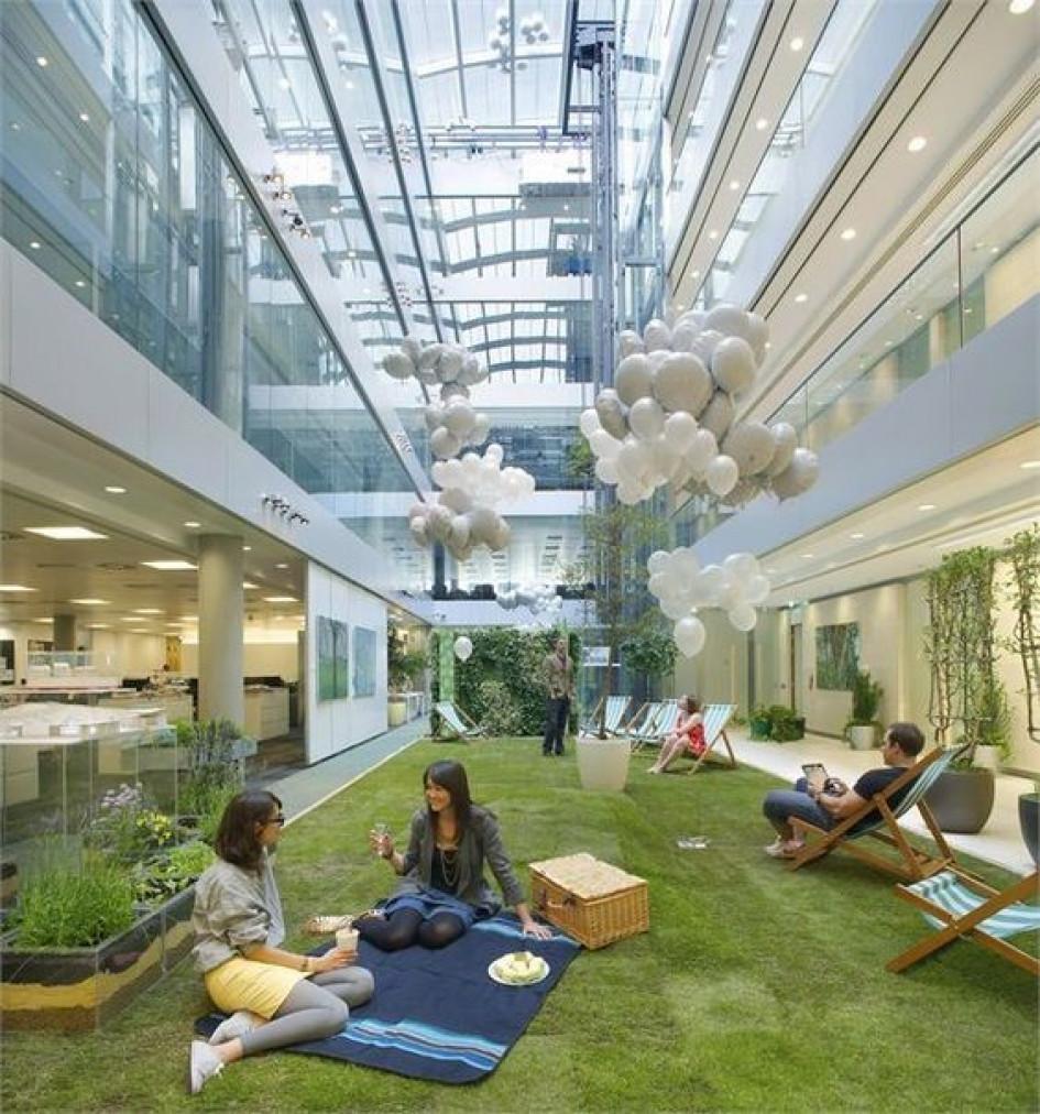 Incredible Indoor Gardens To Make Your Employees Happier