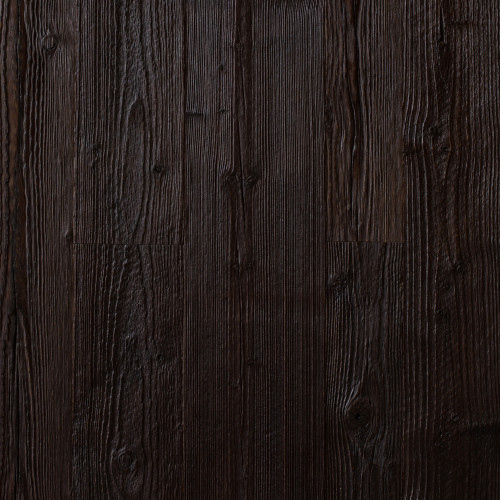 Reclaimed Engineered Weathered Pine: Black