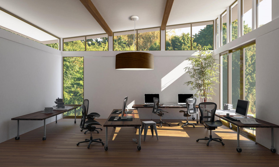 Barbican-Biophilic-Design-Wood-Fixture-with-Windows-to-Natura
