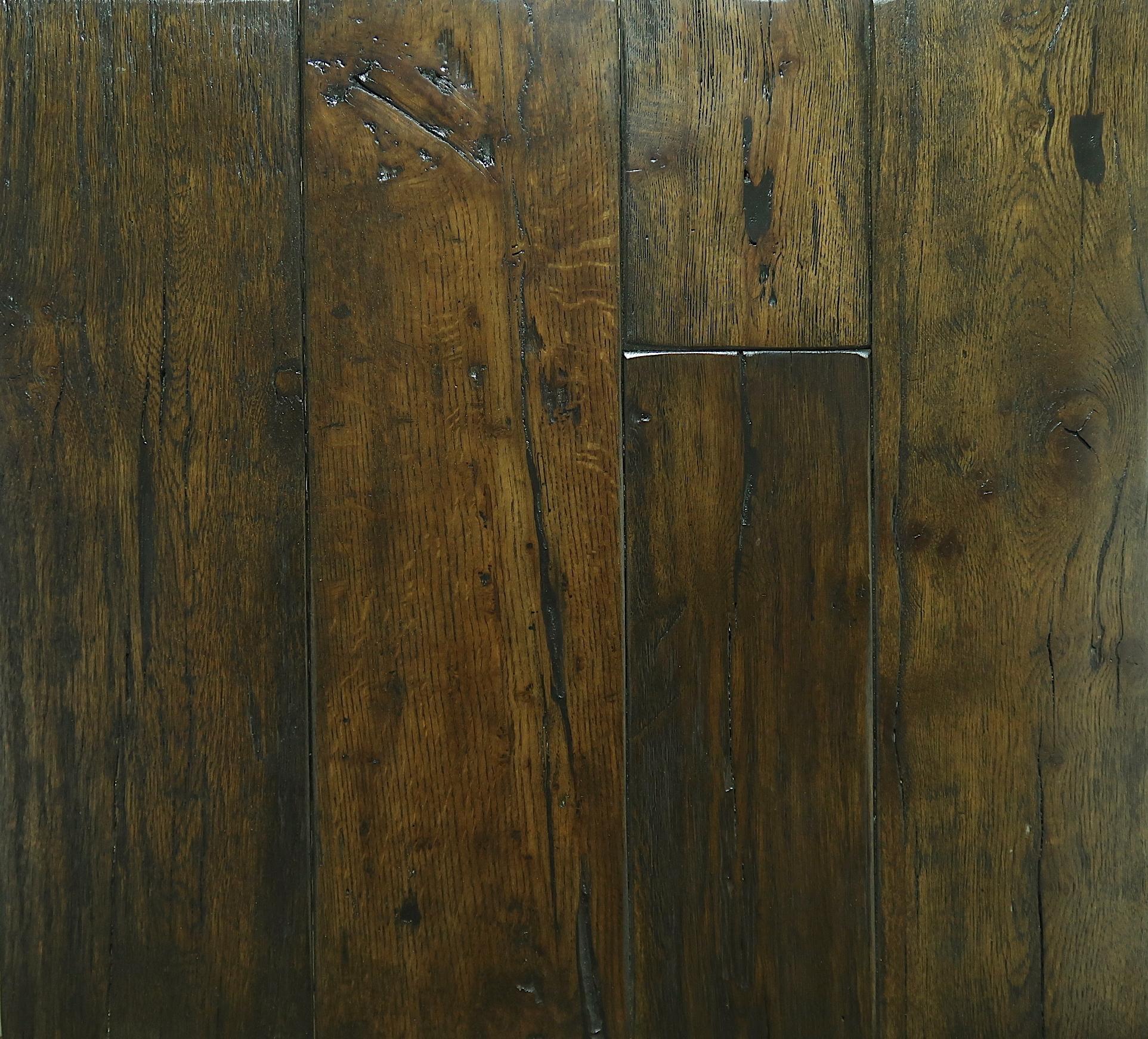 Reclaimed Engineered Estate Oak – Dark Brown